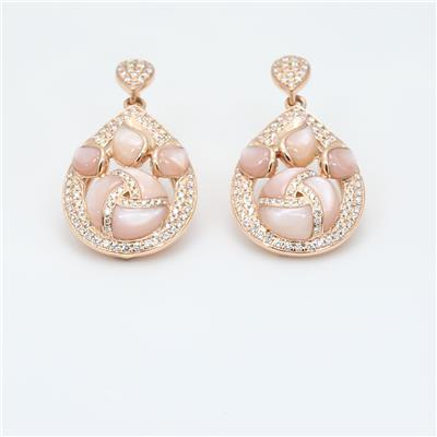 Shell Diamond Earrings ALER1761