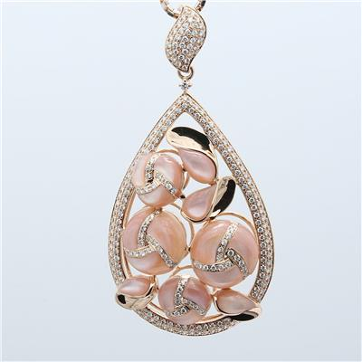 Shell Diamond Pendant ALP1760