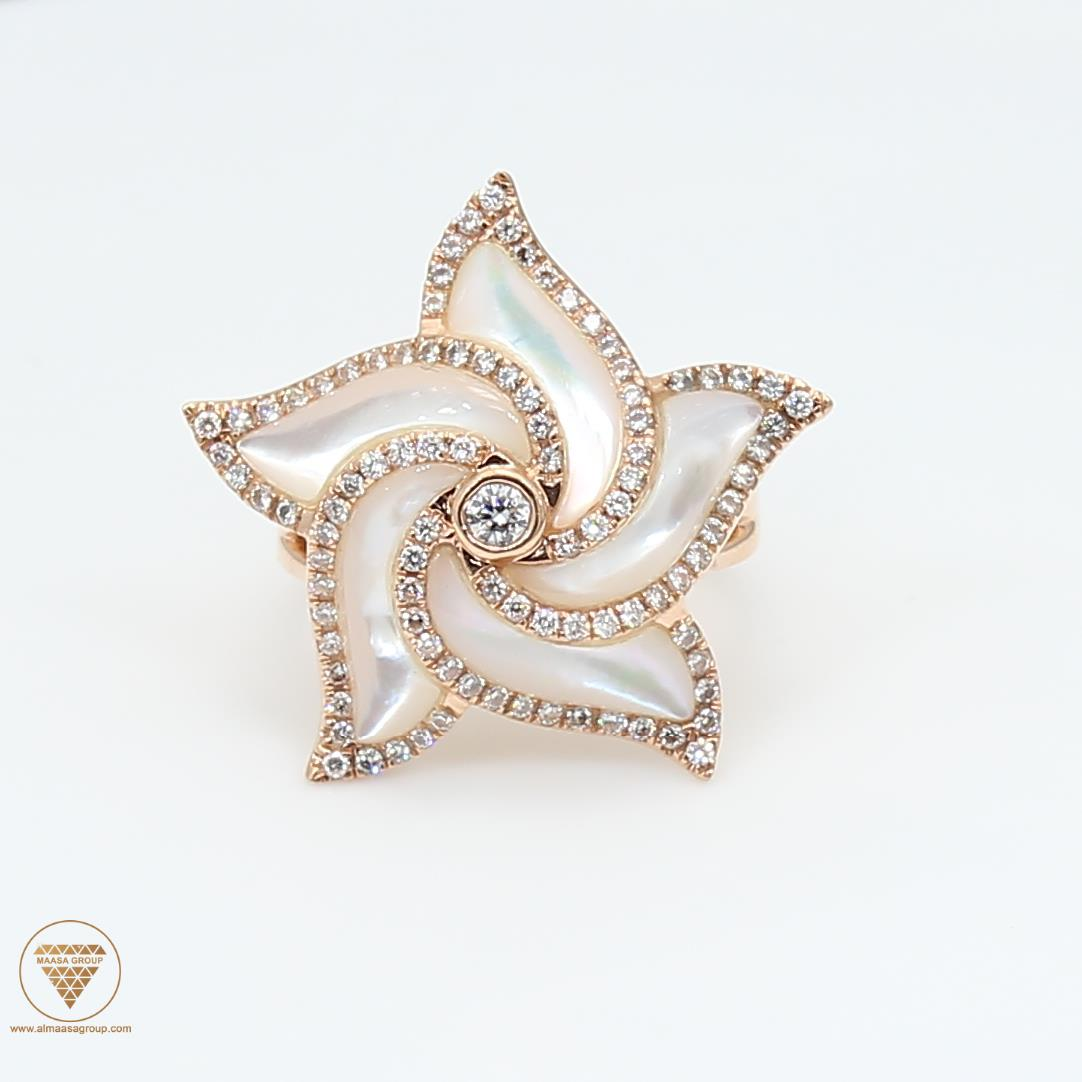 Shell Diamond Ring ALR1509